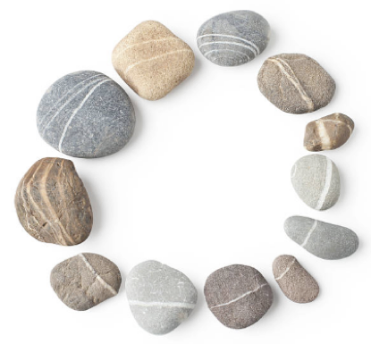 poetry therapy ring of pebbles